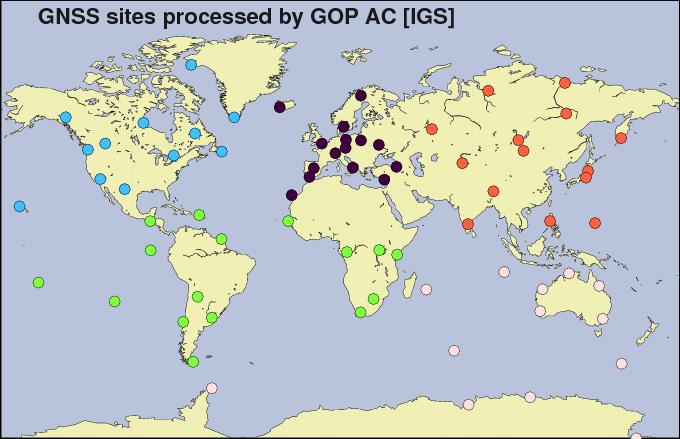 Global networked used in GOP orbit determination