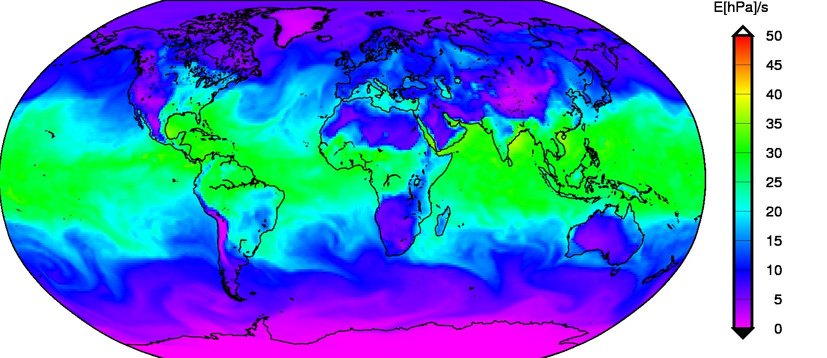 Example global WV pressure derived from the NWM by G-Nut/Shu software